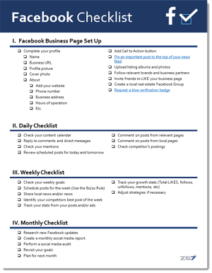 Facebook Checklist - Display-1
